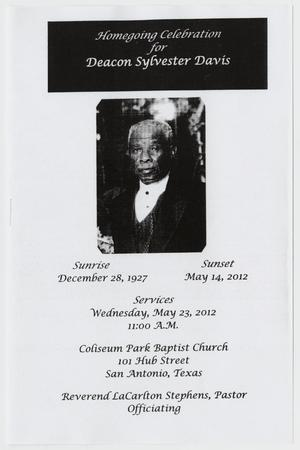 Primary view of object titled '[Funeral Program for Sylvester Davis, May 23, 2012]'.
