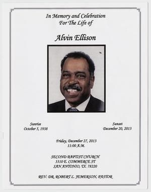 [Funeral Program for Alvin Ellsion, December 27, 2013]