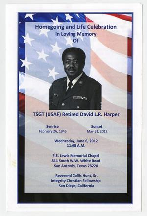 Primary view of object titled '[Funeral Program for David L.R. Harper, June 6, 2012]'.