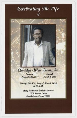 Primary view of object titled '[Funeral Program for Eldridge Allen Burns, Sr., March 13, 2015]'.