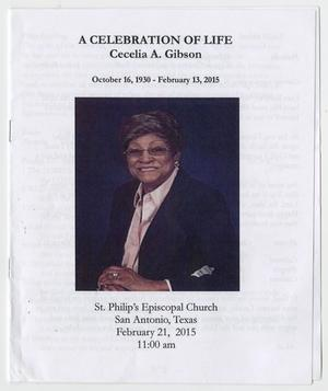 Primary view of object titled '[Funeral Program for Cecelia A. Gibson, February 21, 2015]'.