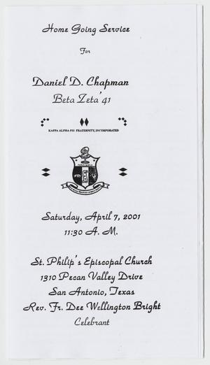 Primary view of object titled '[Funeral Program for Daniel D. Chapman, April 7, 2001]'.