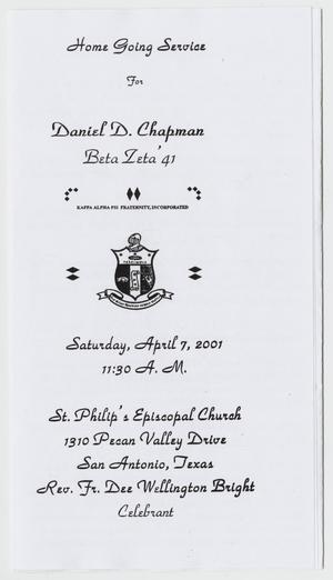 [Funeral Program for Daniel D. Chapman, April 7, 2001]