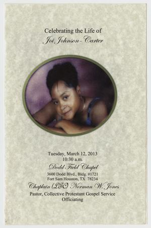 Primary view of object titled '[Funeral Program for Joi Johnson-Carter'.