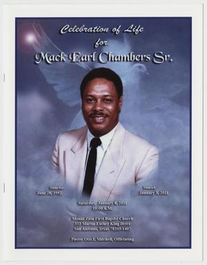 [Funeral Program for Mack Earl Chambers, Sr., January 8, 2011]