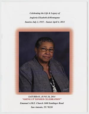 [Funeral Program for Angloria Elizabeth deMontagnac, June 28, 2014]