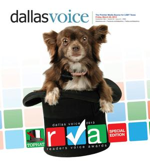 Primary view of object titled 'Dallas Voice (Dallas, Tex.), Vol. 29, No. 45, Ed. 1 Friday, March 22, 2013'.