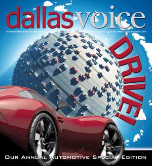 Primary view of object titled 'Dallas Voice (Dallas, Tex.), Vol. 31, No. 26, Ed. 1 Friday, November 7, 2014'.