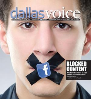 Primary view of object titled 'Dallas Voice (Dallas, Tex.), Vol. 31, No. 9, Ed. 1 Friday, July 11, 2014'.