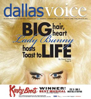 Primary view of object titled 'Dallas Voice (Dallas, Tex.), Vol. 31, No. 42, Ed. 1 Friday, February 27, 2015'.