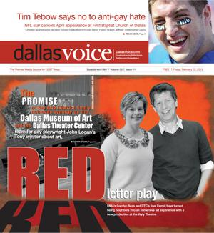 Primary view of object titled 'Dallas Voice (Dallas, Tex.), Vol. 29, No. 41, Ed. 1 Friday, February 22, 2013'.