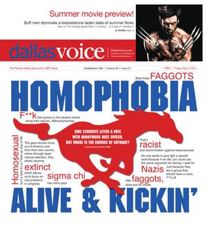 Primary view of object titled 'Dallas Voice (Dallas, Tex.), Vol. 30, No. 51, Ed. 1 Friday, May 2, 2014'.