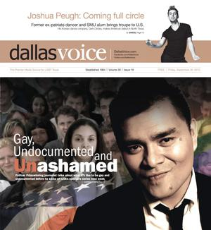 Primary view of object titled 'Dallas Voice (Dallas, Tex.), Vol. 30, No. 19, Ed. 1 Friday, September 20, 2013'.