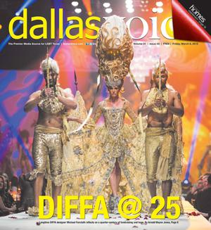 Primary view of object titled 'Dallas Voice (Dallas, Tex.), Vol. 31, No. 43, Ed. 1 Friday, March 6, 2015'.
