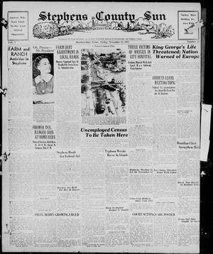 Primary view of Stephens County Sun (Breckenridge, Tex.), Vol. 7, No. 73, Ed. 1, Friday, November 12, 1937