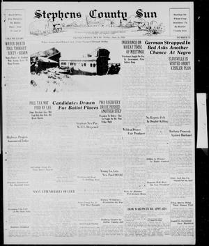 Primary view of object titled 'Stephens County Sun (Breckenridge, Tex.), Vol. 8, No. 52, Ed. 1, Friday, June 24, 1938'.