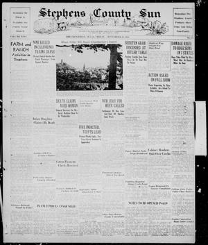 Primary view of object titled 'Stephens County Sun (Breckenridge, Tex.), Vol. 9, No. 13, Ed. 1, Friday, September 23, 1938'.