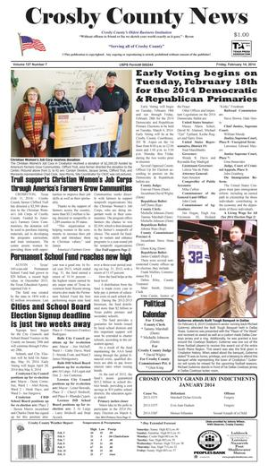 Crosby County News (Ralls, Tex.), Vol. 127, No. 7, Ed. 1 Friday, February 14, 2014
