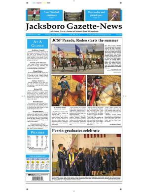 Primary view of object titled 'Jacksboro Gazette-News (Jacksboro, Tex.), Vol. 134, No. 1, Ed. 1 Tuesday, June 11, 2013'.