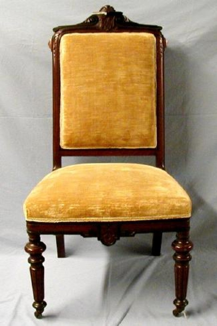 [Gold Velvet Dining Chair]