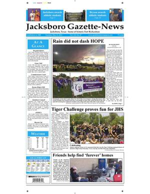 Primary view of object titled 'Jacksboro Gazette-News (Jacksboro, Tex.), Vol. 133, No. 47, Ed. 1 Tuesday, May 21, 2013'.