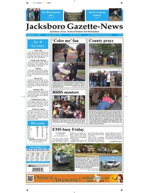 Primary view of object titled 'Jacksboro Gazette-News (Jacksboro, Tex.), Vol. 133, No. 45, Ed. 1 Tuesday, May 7, 2013'.