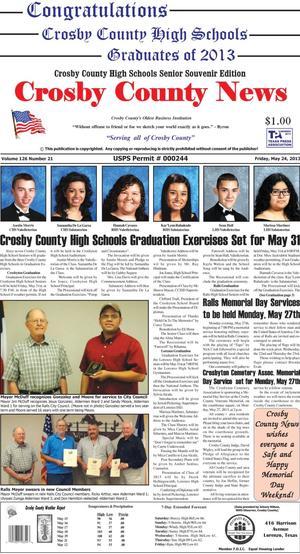 Crosby County News (Ralls, Tex.), Vol. 126, No. 21, Ed. 1 Friday, May 24, 2013