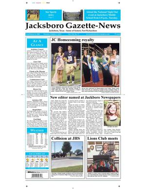 Primary view of object titled 'Jacksboro Gazette-News (Jacksboro, Tex.), Vol. 134, No. 17, Ed. 1 Tuesday, October 1, 2013'.