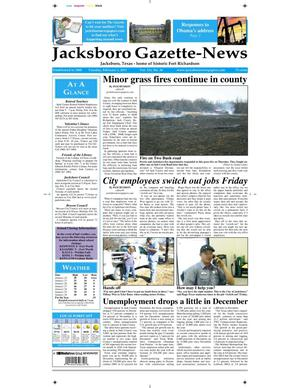 Primary view of object titled 'Jacksboro Gazette-News (Jacksboro, Tex.), Vol. 131, No. 36, Ed. 1 Tuesday, February 1, 2011'.