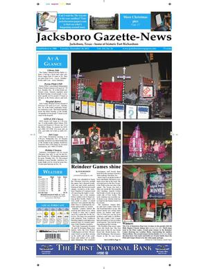 Primary view of object titled 'Jacksboro Gazette-News (Jacksboro, Tex.), Vol. 133, No. 26, Ed. 1 Tuesday, December 18, 2012'.