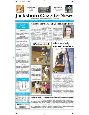 Primary view of object titled 'Jacksboro Gazette-News (Jacksboro, Tex.), Vol. 134, No. 24, Ed. 1 Tuesday, November 19, 2013'.