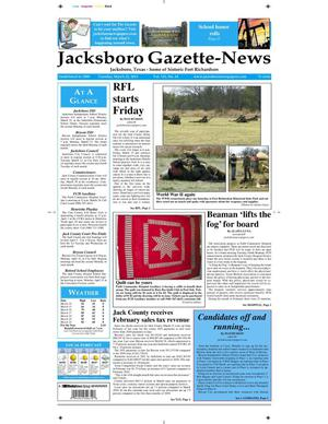Primary view of object titled 'Jacksboro Gazette-News (Jacksboro, Tex.), Vol. 131, No. 43, Ed. 1 Tuesday, March 22, 2011'.