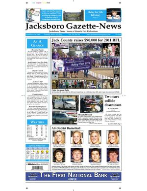 Primary view of object titled 'Jacksboro Gazette-News (Jacksboro, Tex.), Vol. 131, No. 44, Ed. 1 Tuesday, March 29, 2011'.