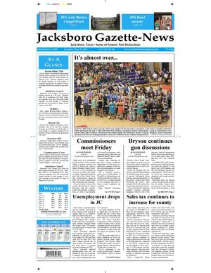 Primary view of object titled 'Jacksboro Gazette-News (Jacksboro, Tex.), Vol. 133, No. 48, Ed. 1 Tuesday, May 28, 2013'.