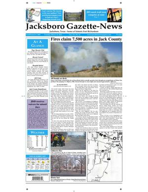 Primary view of object titled 'Jacksboro Gazette-News (Jacksboro, Tex.), Vol. 131, No. 42, Ed. 1 Tuesday, March 15, 2011'.