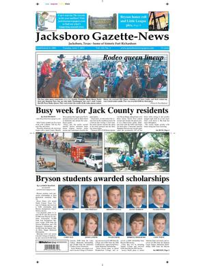 Primary view of object titled 'Jacksboro Gazette-News (Jacksboro, Tex.), Vol. 132, No. 1, Ed. 1 Tuesday, June 7, 2011'.