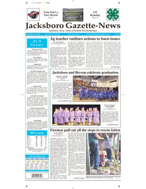 Primary view of object titled 'Jacksboro Gazette-News (Jacksboro, Tex.), Vol. 134, No. 52, Ed. 1 Tuesday, June 3, 2014'.