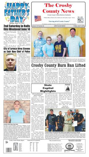 Primary view of object titled 'Crosby County News (Ralls, Tex.), Vol. 127, No. 24, Ed. 1 Friday, June 13, 2014'.