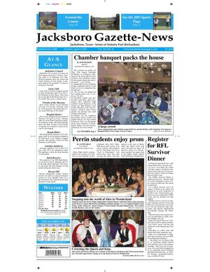 Primary view of object titled 'Jacksboro Gazette-News (Jacksboro, Tex.), Vol. 133, No. 41, Ed. 1 Tuesday, April 9, 2013'.