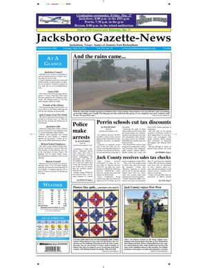 Primary view of object titled 'Jacksboro Gazette-News (Jacksboro, Tex.), Vol. 131, No. 51, Ed. 1 Tuesday, May 24, 2011'.