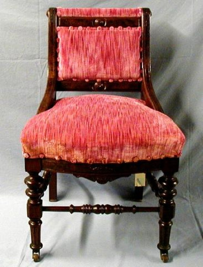 [Mauve Pink Dining Chair, Armless]