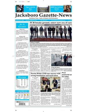 Primary view of object titled 'Jacksboro Gazette-News (Jacksboro, Tex.), Vol. 134, No. 21, Ed. 1 Tuesday, October 29, 2013'.