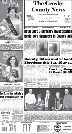 Primary view of object titled 'Crosby County News (Ralls, Tex.), Vol. 126, No. 19, Ed. 1 Friday, May 10, 2013'.