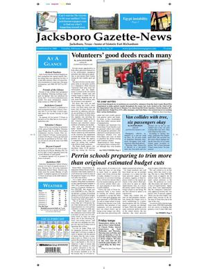 Primary view of object titled 'Jacksboro Gazette-News (Jacksboro, Tex.), Vol. 131, No. 37, Ed. 1 Tuesday, February 8, 2011'.