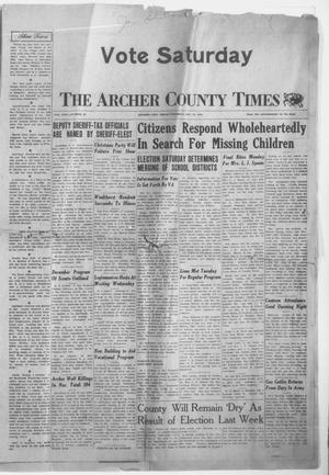Primary view of object titled 'The Archer County Times (Archer City, Tex.), Vol. 22, No. 25, Ed. 1 Thursday, December 12, 1946'.