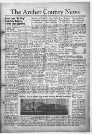 Primary view of object titled 'The Archer County News (Archer City, Tex.), Vol. 33, No. 7, Ed. 1 Thursday, February 13, 1947'.