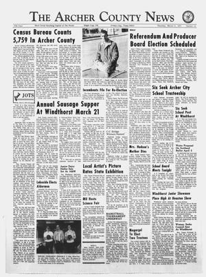 Primary view of object titled 'The Archer County News (Archer City, Tex.), Vol. 57, No. 10, Ed. 1 Thursday, March 11, 1971'.