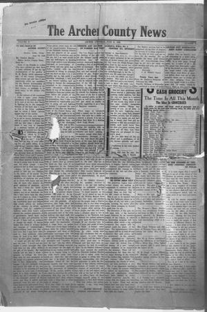 Primary view of object titled 'The Archer County News (Archer City, Tex.), Vol. 10, No. 10, Ed. 1 Friday, June 25, 1920'.