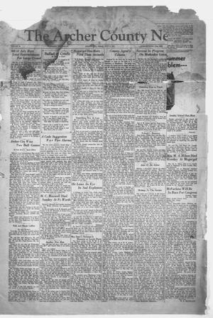 Primary view of object titled 'The Archer County News (Archer City, Tex.), Vol. 20, No. 52, Ed. 1 Friday, July 10, 1931'.