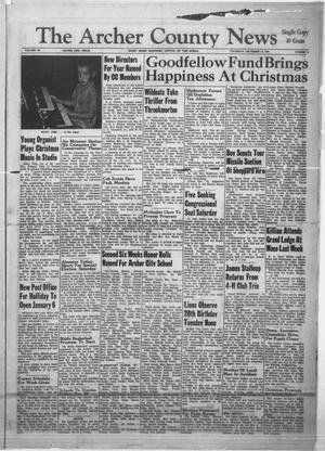 Primary view of object titled 'The Archer County News (Archer City, Tex.), Vol. 48, No. 2, Ed. 1 Thursday, December 14, 1961'.